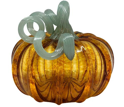 $69.00 Amber Glass Medium Pumpkin