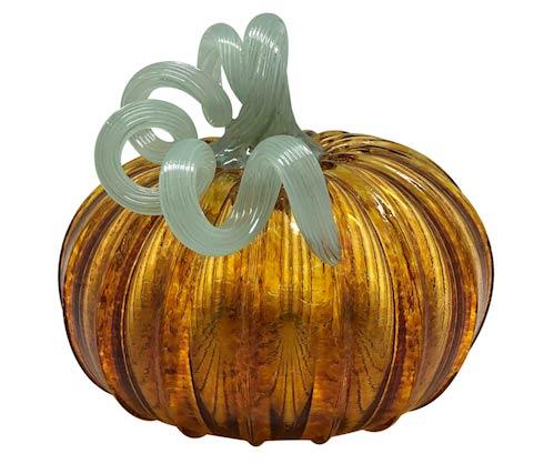 $98.00 Amber Glass Large Pumpkin
