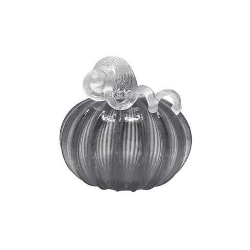 $98.00 Smoke Glass Large Pumpkin