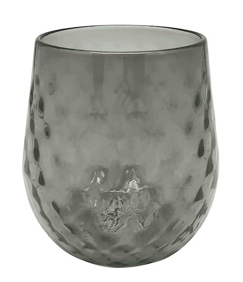 $39.00 Gray Lowball Glass
