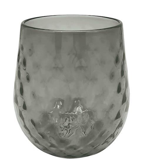 $39.00 Gray Lowball Glass
