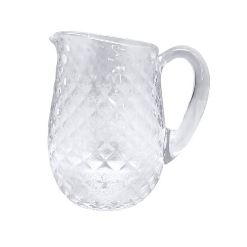 $120.00 Clear Pineapple Textured Pitcher