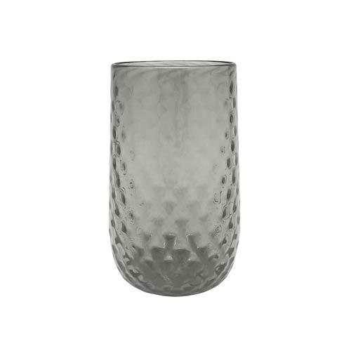 $49.00 Gray Pineapple Texture Iced Tea Glass