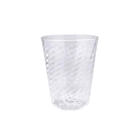 $39.00 Clear Herringbone Lowball Glass
