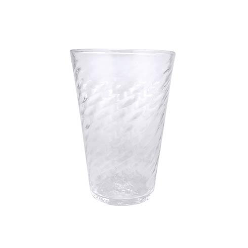 $49.00 Clear Herringbone Iced Tea Glass