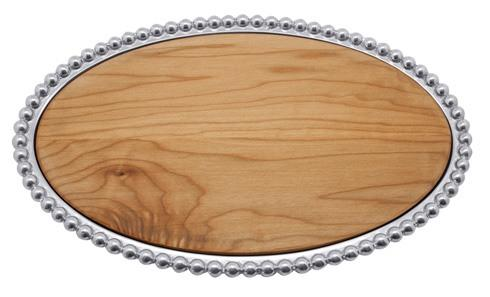 $148.00 Pearled Maple Oval Cheese Board