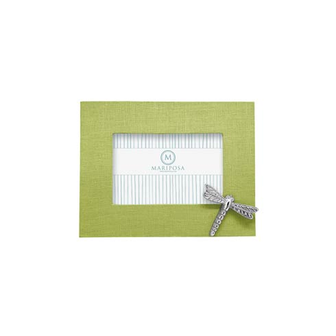 $89.00 Spring Green Linen with Dragonfly Icon 4x6 Frame