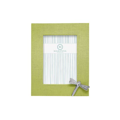 $98.00 Spring Green Linen with Dragonfly Icon 5x7 Frame