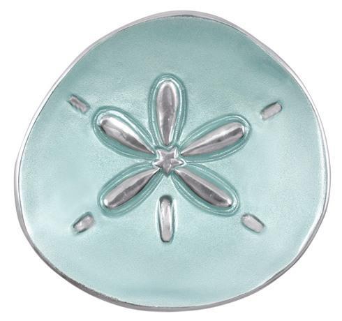 $36.00 Aqua Sand Dollar Canape Plate