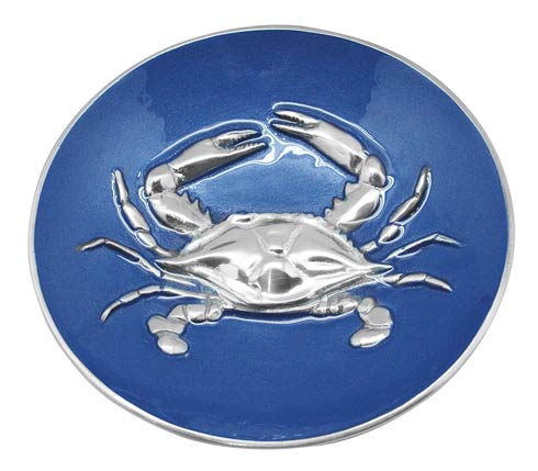 Cobalt Crab Relief Bowl image