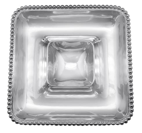 Mariposa Serving Trays and More String of Pearls Pearled Square Chip & Dip $159.00