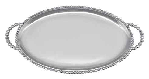 Mariposa Serving Trays and More Beaded Beaded Oval Handled Tray $98.00