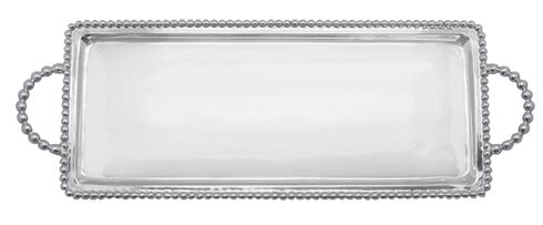 Mariposa Serving Trays and More Beaded Beaded Long Rectangular Tray $98.00