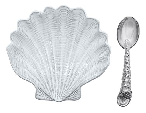 $49.00 Scallop Ceramic Canape Plate