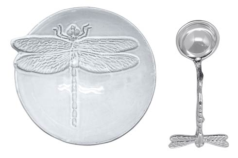 Mariposa Table Accessories Gregarious Garden Dragonfly Ceramic Canape Plate $49.00
