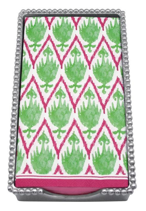 Mariposa Napkin Boxes and Weights String of Pearls Monkey Beaded Guest Towel Box $62.00