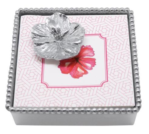 $49.00 Hibiscus Beaded Napkin Box