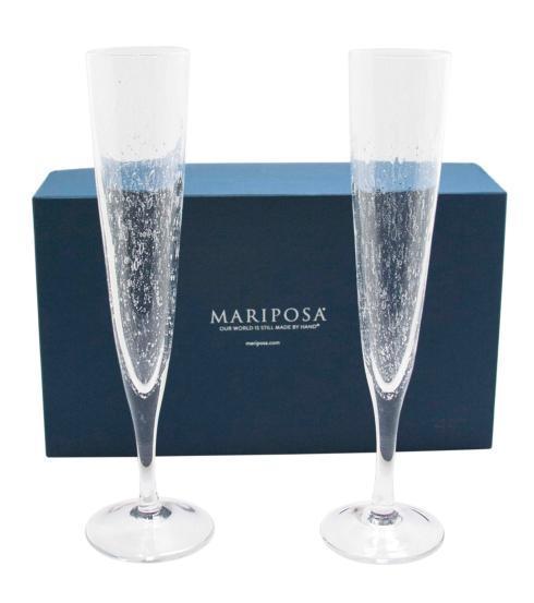 $89.00 Bellini Champagne Flutes S/2 Bx