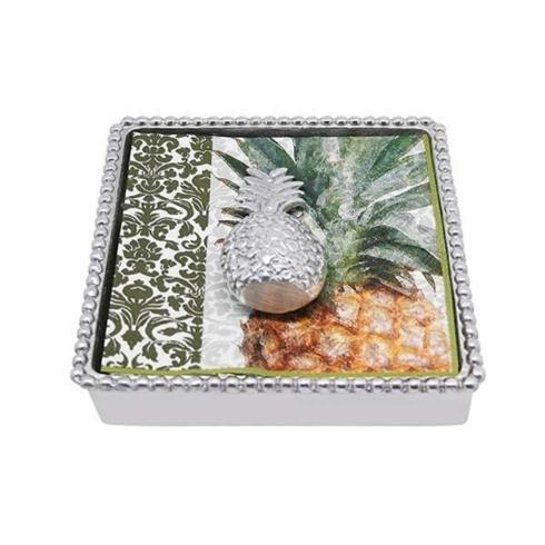 $49.00 Pineapple Beaded Napkin Box