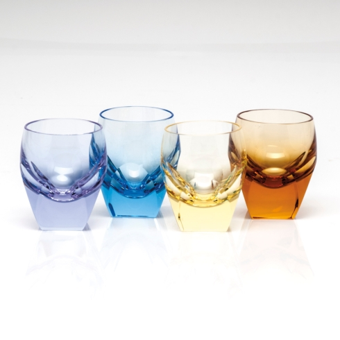 $485.00 Shot Glass 1.5 Oz. Set/4 Multicolor