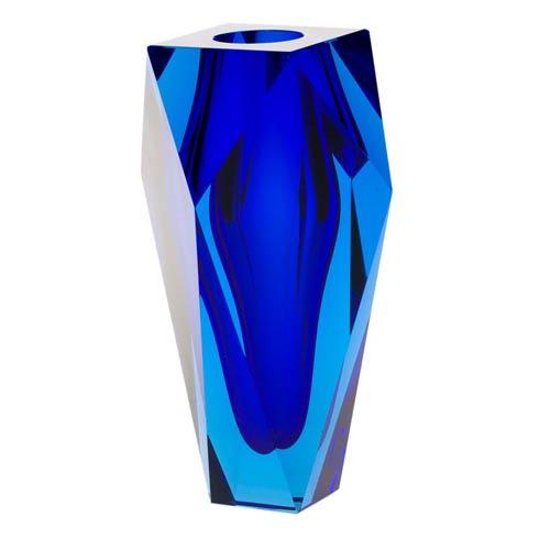 """$2,950.00 Vase 10"""" H Aquamarine & Cobalt Blue"""