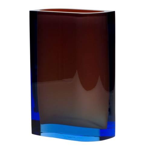 """$2,350.00 Vase 11.8"""" H Aquamarine & Orange"""