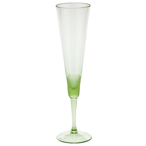 Moser Stemware Stemware - Pebbles Champagne 5.8 Oz. Ocean Green $150.00