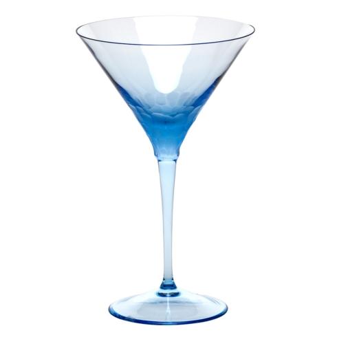 Moser Stemware Stemware - Pebbles Martini 8.8 Oz. Aquamarine $150.00