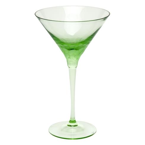 Moser Stemware Stemware - Pebbles Martini 8.8 Oz. Ocean Green $150.00