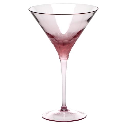 Moser Stemware Stemware - Pebbles Martini 8.8 Oz. Rosalin $150.00