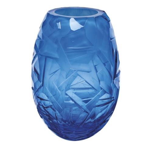 """$4,440.00 Vase 11.8"""" H Danae - Aquamarine & White"""