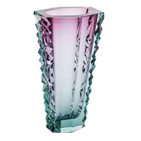"$3,300.00 Vase 11.8"" H Diamond Cut - Beryl & Rose"