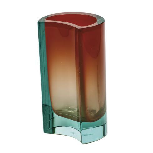 """$2,100.00 Vase 7.9"""" H Beryl & Orange"""