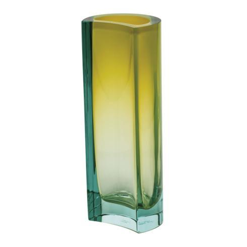 "$2,100.00 Vase 9.8"" H Beryl & Yellow"