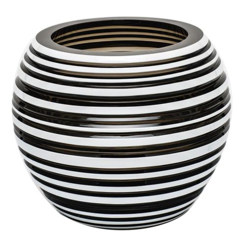 "$3,000.00 Vase 7"" H Horizontal - Smoke & White"