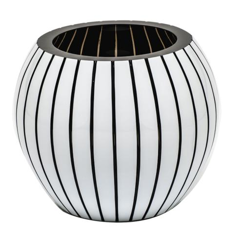 "$3,000.00 Vase 7"" H Vertical - Smoke & White"
