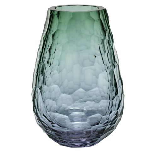"""Vase 12.2"""" H Alexandrite & Green"""