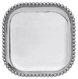 Mariposa  String of Pearls Pearled Square Platter $79.00