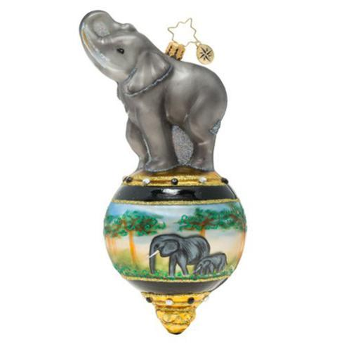 $76.00 Triumphant Elephant Ornament