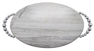 Mariposa  String of Pearls Pearled Marble Serving Board $139.00
