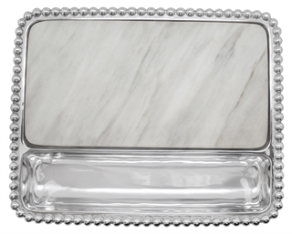 Mariposa  String of Pearls Pearled Marble Cheese Board $155.00