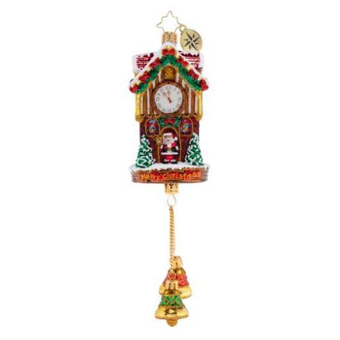 $80.00 Joyful Christmas Clock ornament