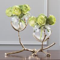 $283.95 Twig 2-Vase Holder, brass
