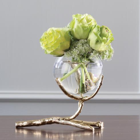 $129.95 Twig Vase Holder, brass