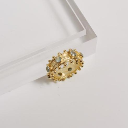 $72.95 Etruscan Band Ring, Aqua Chalcedony, size 7
