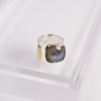 $102.95 Selma Ring, Labradorite, Size 8