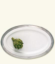 Large Convivio oval serving platter collection with 1 products