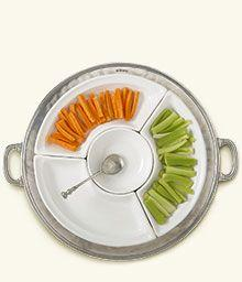 $956.00 Convivio round sectional platter