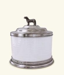 $415.00 Convivio Cookie Jar with Dog Finial