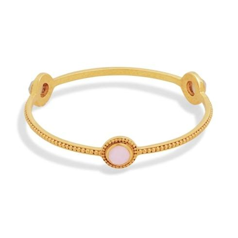 $145.00 Julie Vos Florentine Stone Bangle, Rose